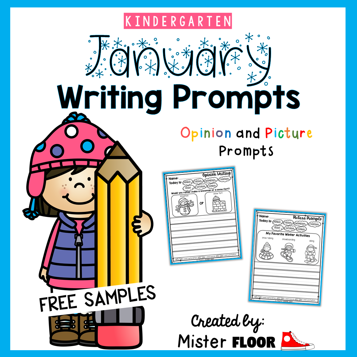 Free Kindergarten Writing Prompts Opinion Writing