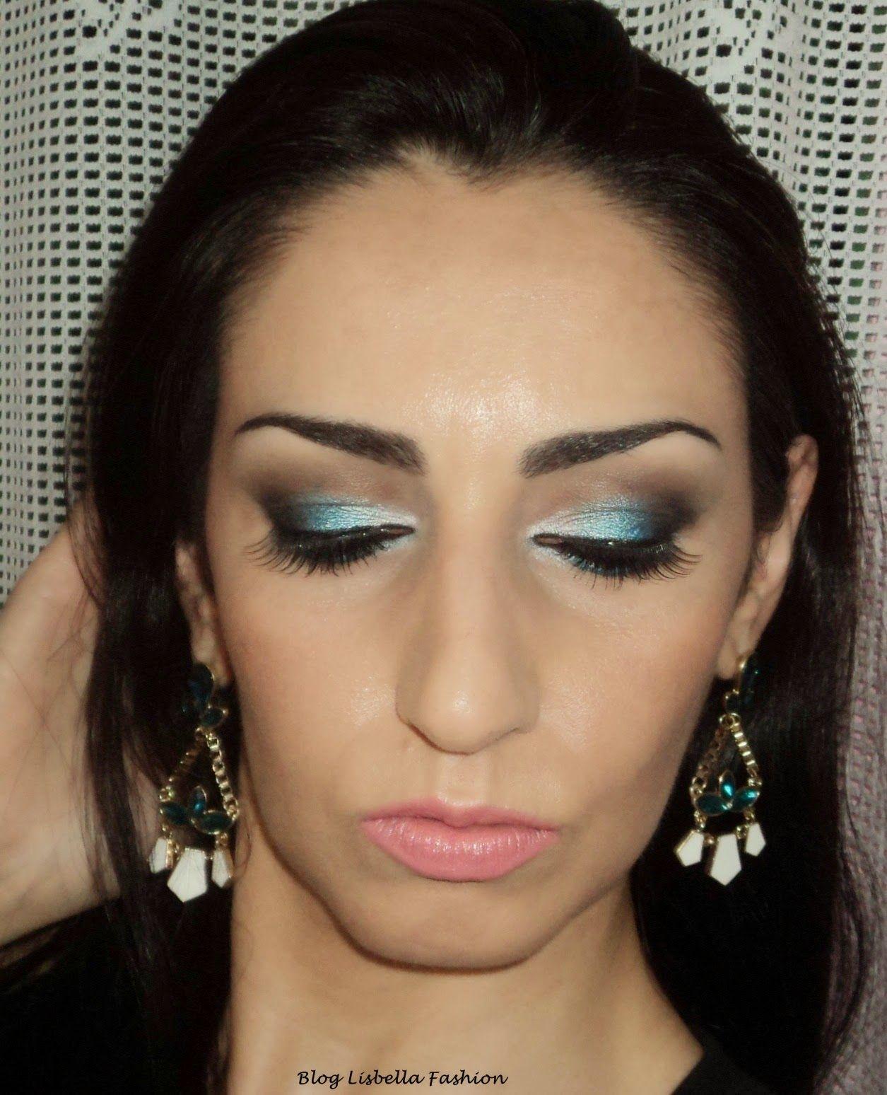 Lisbella Fashion: Maquiagem para o verão com sombra azul e batom coral.