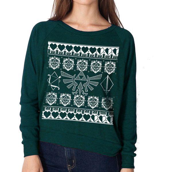 The Legend of Zelda Ugly Christmas Sweater Triforce Zelda Sweaters ...
