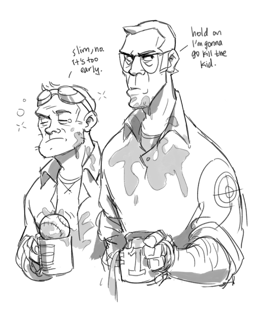 I Need Coffee Greyrose Tf2 Engineer Sniper Teamfortress