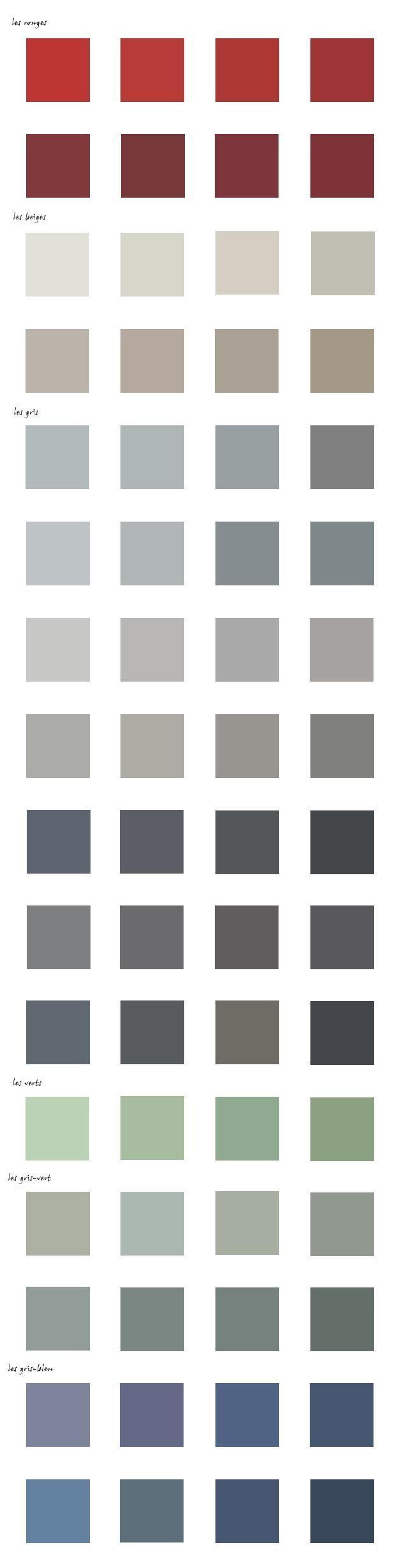Le Nuancier Des Couleurs Abf 37 Abf Couleurs Des Le Nuancier Colorful Interiors Interior Design Paint Color Chart