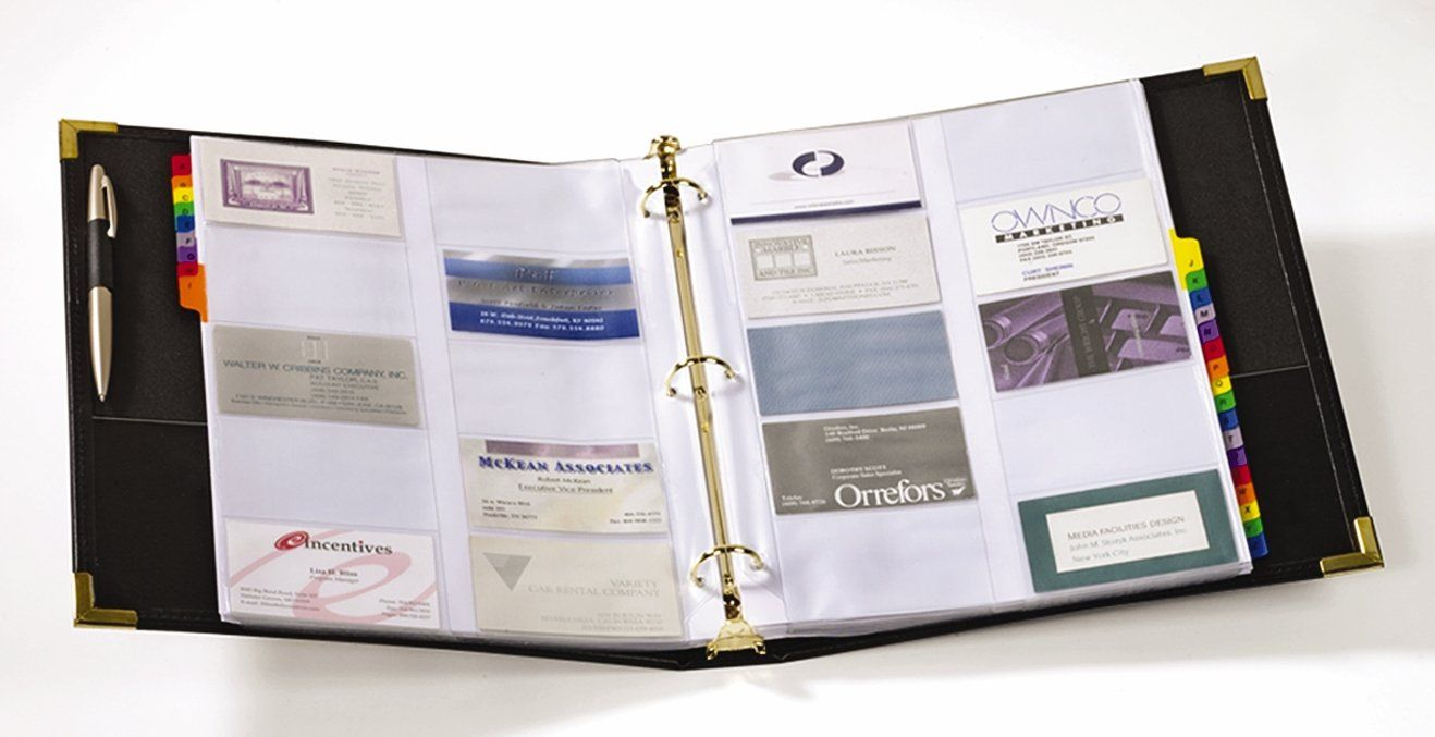 Cardinal Business Card Books 65361 C20 -- Details can be found by ...