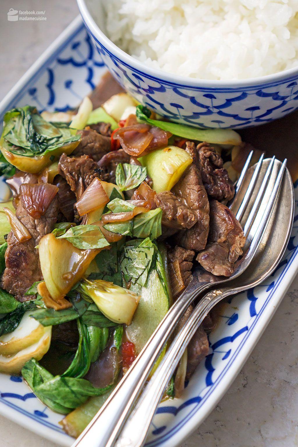 asiatisches rind mit pak choi und chili essen und trinken pinterest essen asiatische. Black Bedroom Furniture Sets. Home Design Ideas