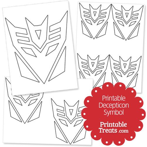 Printable Decepticon Symbol From Printabletreats Com Symbols