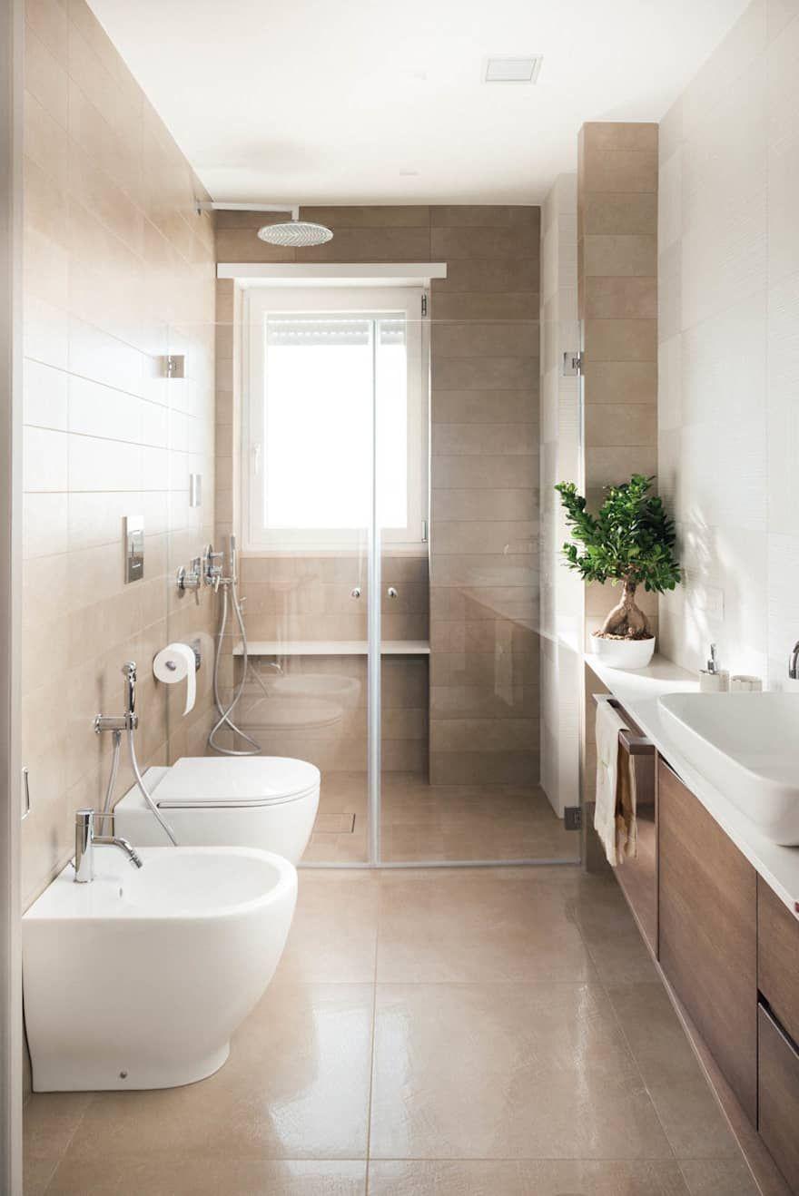 Bagno moderno interior design idee e foto l nel 2019 for Arredo bagno piccolo moderno
