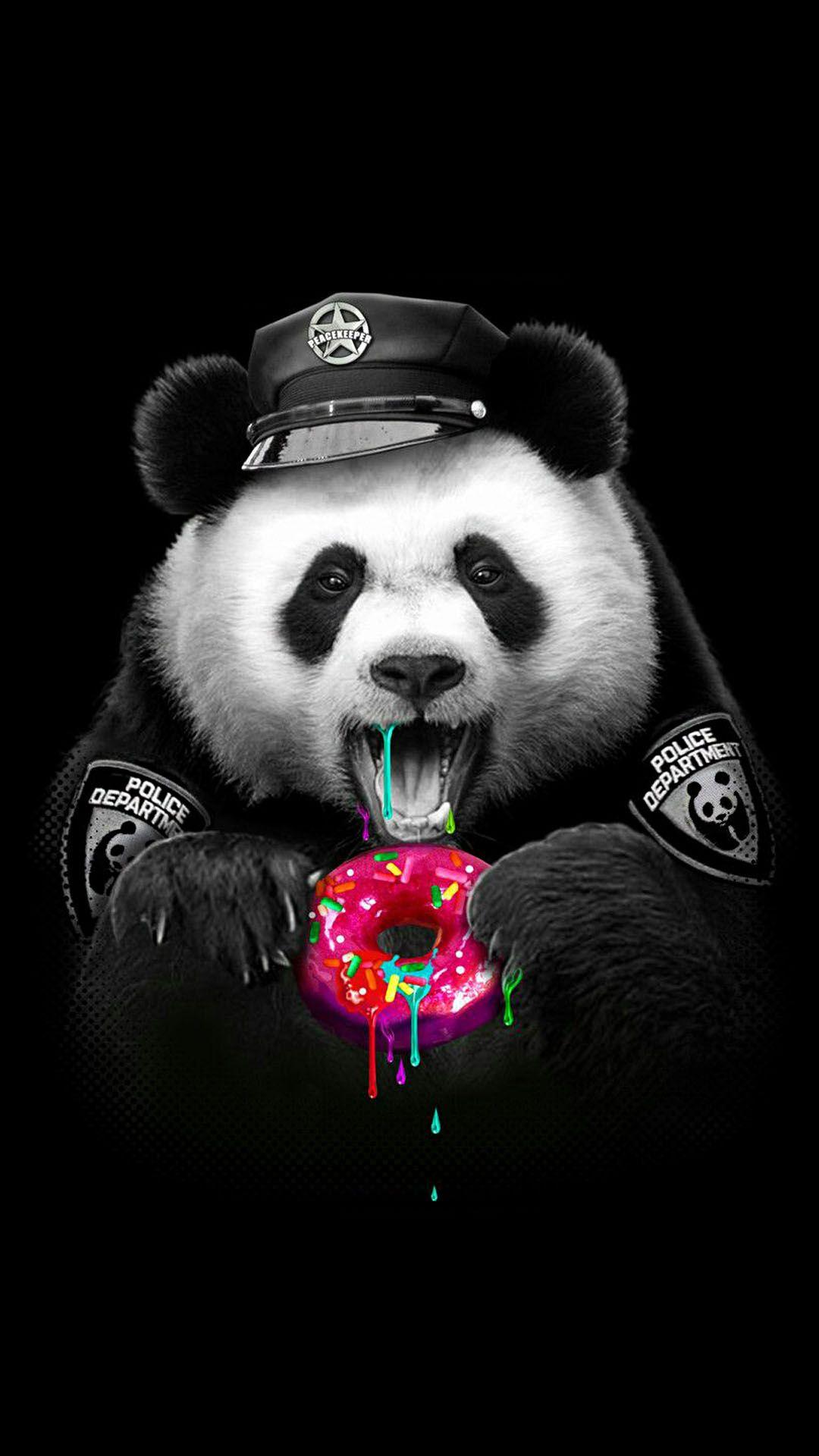 Black Panda Background Image in 2020 Panda wallpapers