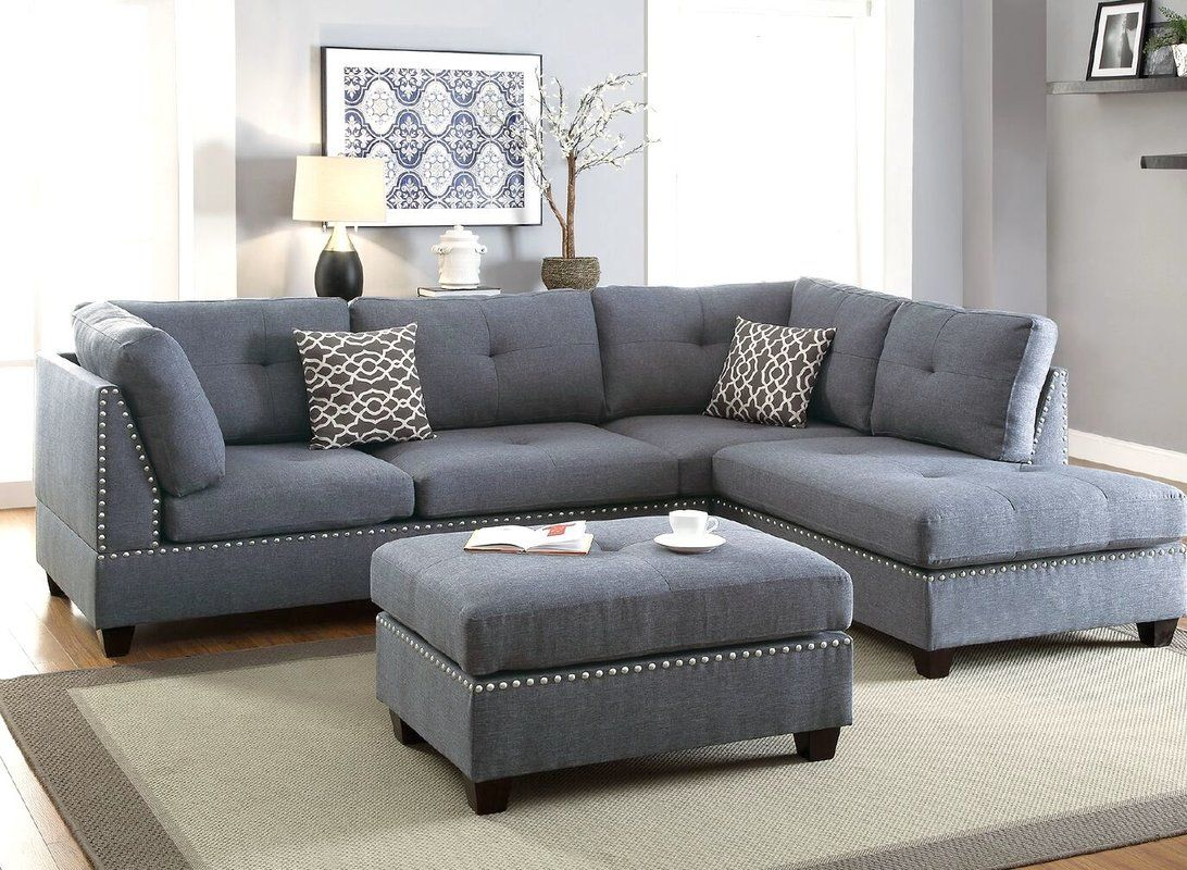Charlemont 104 Reversible Sectional With Ottoman Living Room