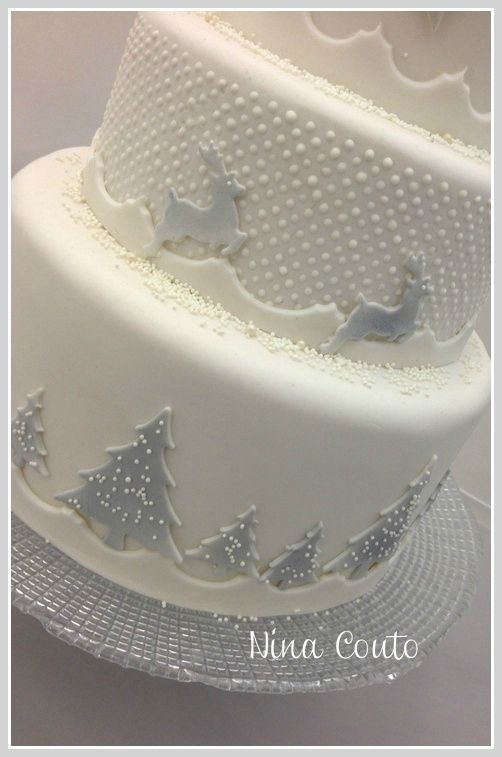 Wedding Cake Blanc Noel 1 Christmas Pinterest Noel Wedding