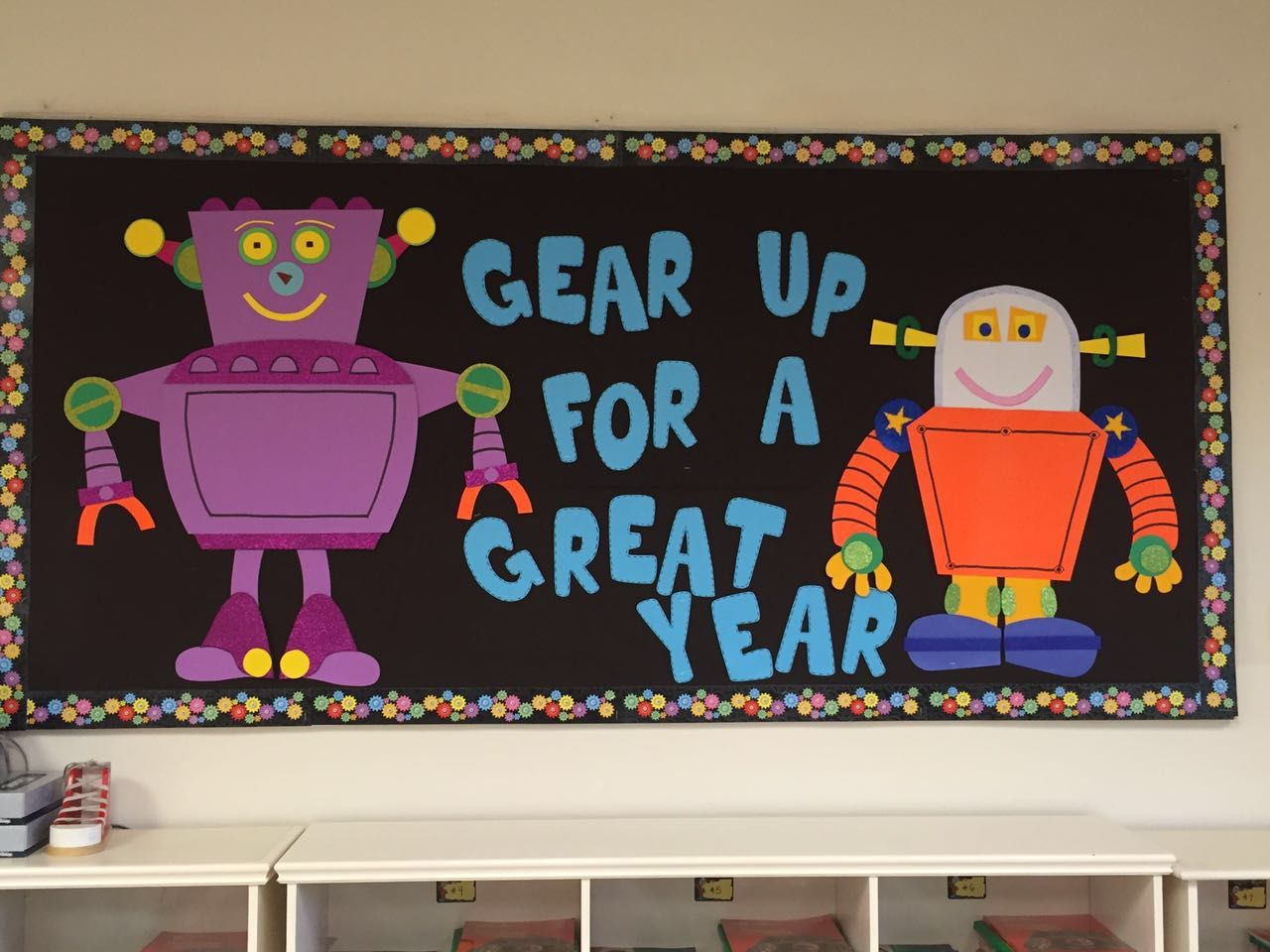Robot Bulletin Board Boards Classroom