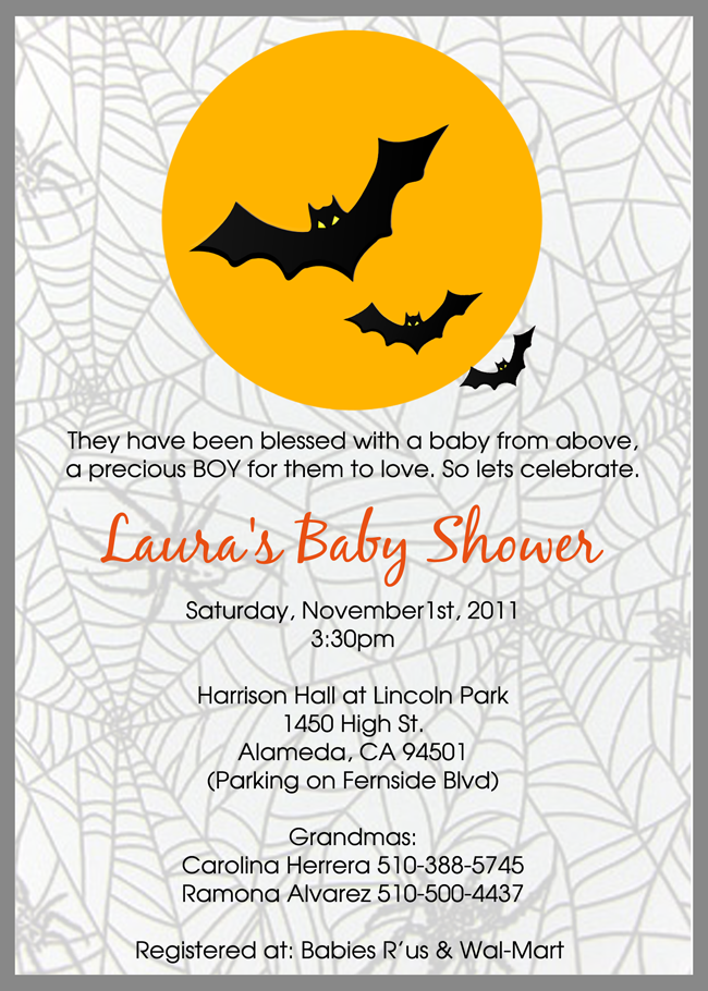 Halloween Baby Shower Invitations | Halloween baby shower ...