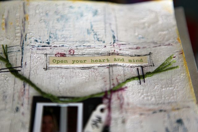 when your heart & mind are open, inspiration can fly  #journal