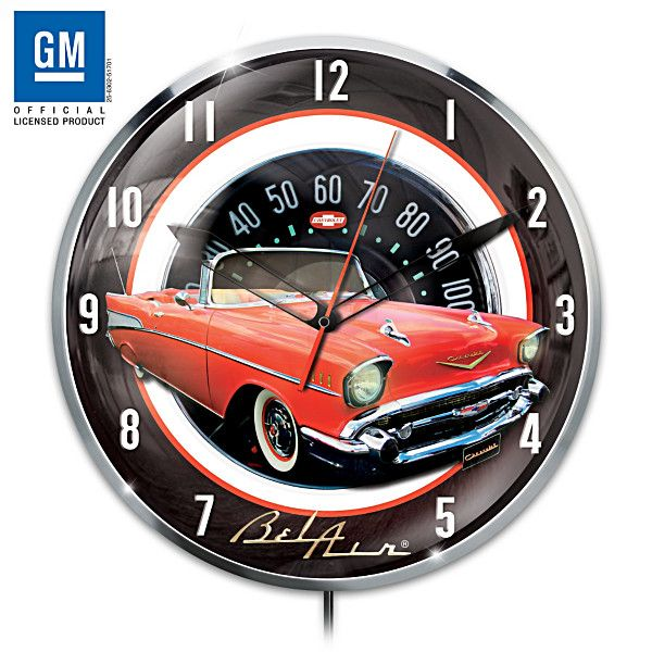 1957 Chevrolet Bel Air Wall Clock 1957 Chevrolet Chevrolet Bel Air Chevrolet
