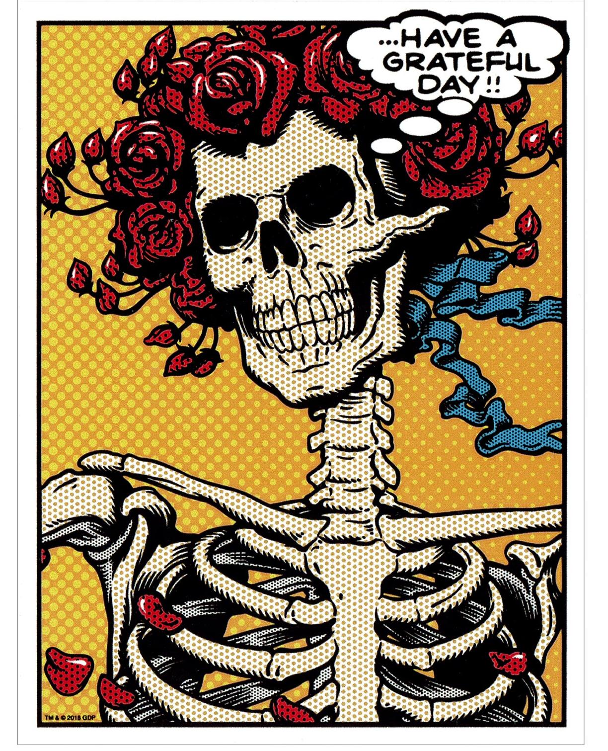 New Grateful Dead Pop Art Bertha Sticker Grateful Dead Image Grateful Dead Sticker Pop Art