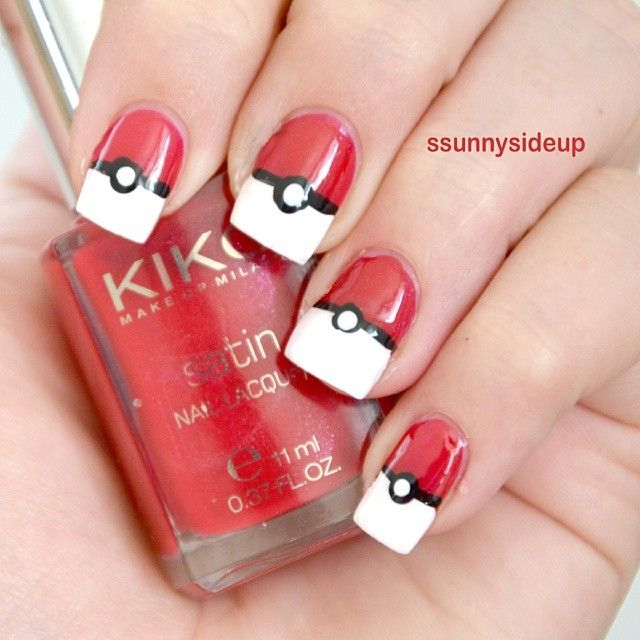 Pokeball nails! For when my little brother lets me do his nails