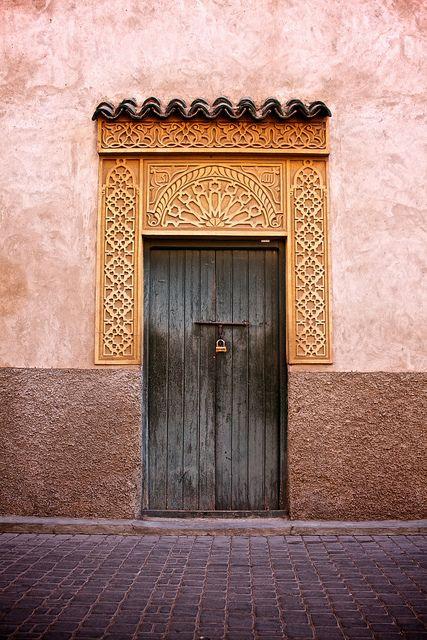 Moroccan door by Jackson England & doorway.   Moroccan Jackson and Doors