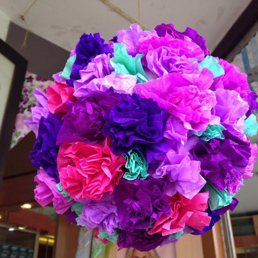 Colgante de flores para la vidriera | Manualidades
