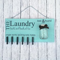 Diy Craft Kit Laundry Room Decor Laundry Sign Lost Socks Lost And