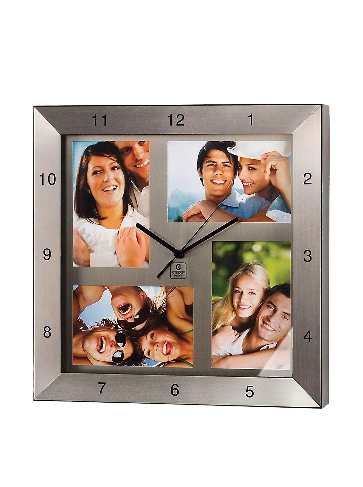Metal photo clock 13 photo clock bed bath and beyond