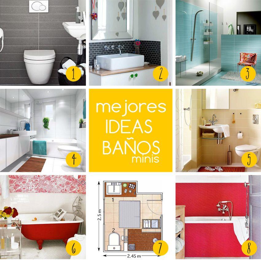14 mejores ideas para baños pequeños