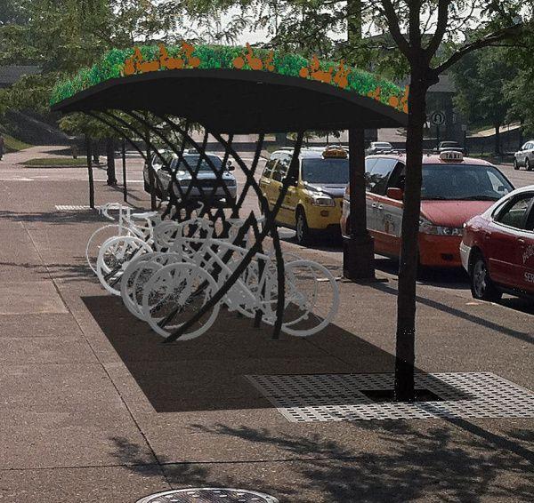 Covered Bike Storage : Covered bike rack pinterest
