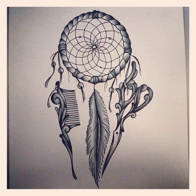 hairstylist's dreamcatcher tattoo