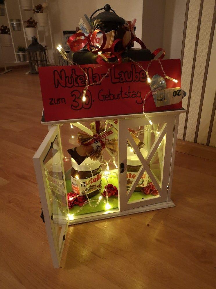 Nutella Laube Zum 30 Geburtstag Doorhangerdiychristmas