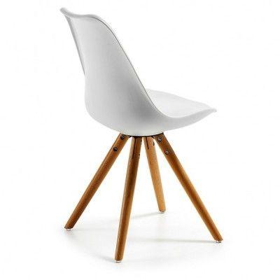 Silla wooden Blanca DSW