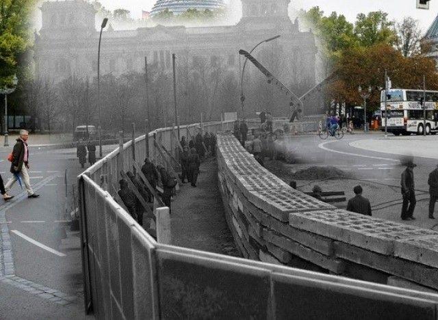 chute du mur de berlin red couvrez la ville avant et. Black Bedroom Furniture Sets. Home Design Ideas