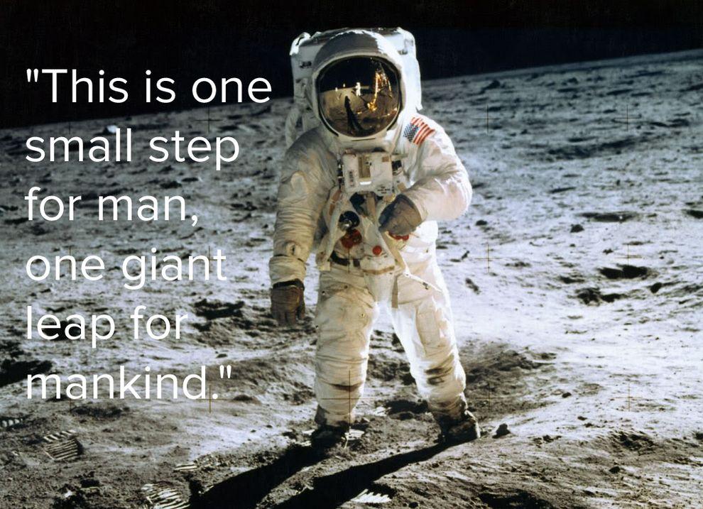 ผลการค้นหารูปภาพสำหรับ neil armstrong quote in the moon funny