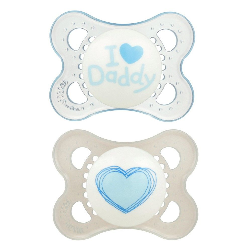 I Love Daddy Baby Feeding Love /& Affection Orthodontic Pacifier Girl NEW