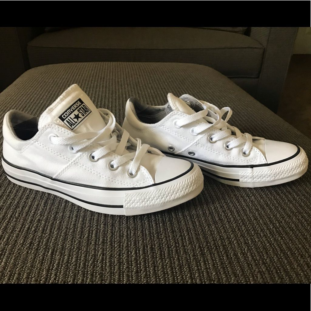 White Converse All Star Womens Size 6