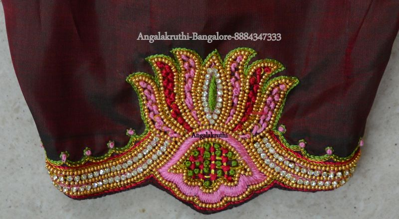 Angalakruthi Hand Embroidery Designs Lotus Designs Embroidery N