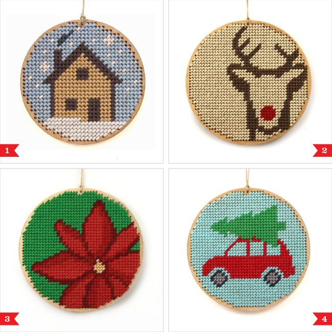 Awesome Etsy find: Christmas ornament needlepoint kits by Modern ...