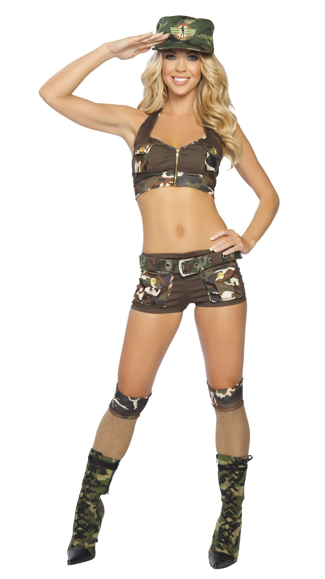 Sexy army couple costume-2133
