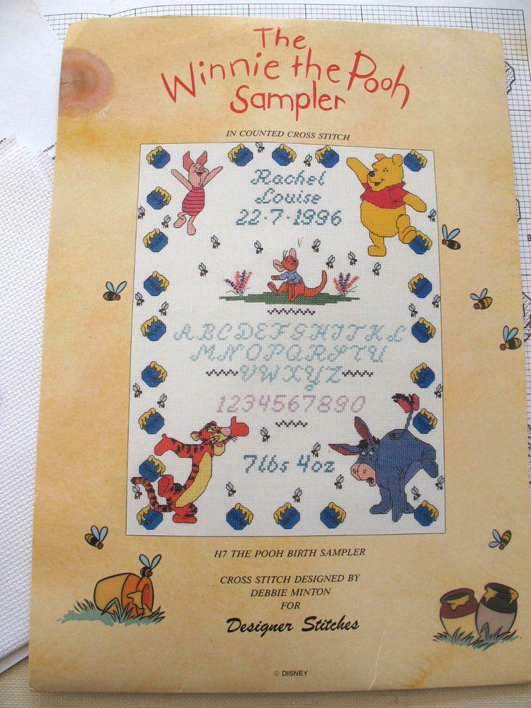 Winnie the Pooh Birth Sampler Cross Stitch Kit Disney Designer – Winnie the Pooh Birth Announcement