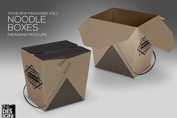 Download Noodle Box Packaging Mockup Food Box Packaging Box Packaging Food Packaging Design