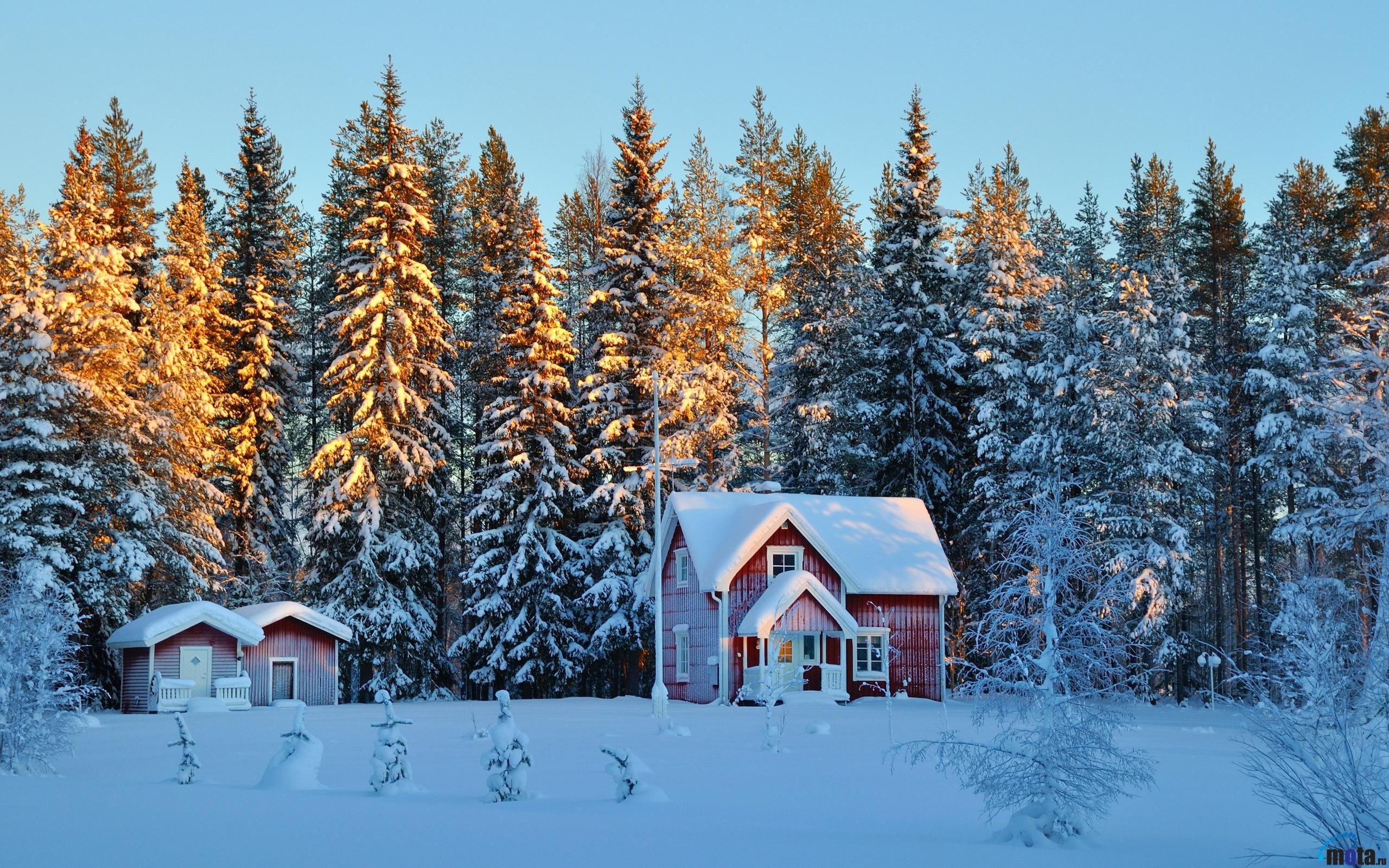 картинка домика в снегу верили