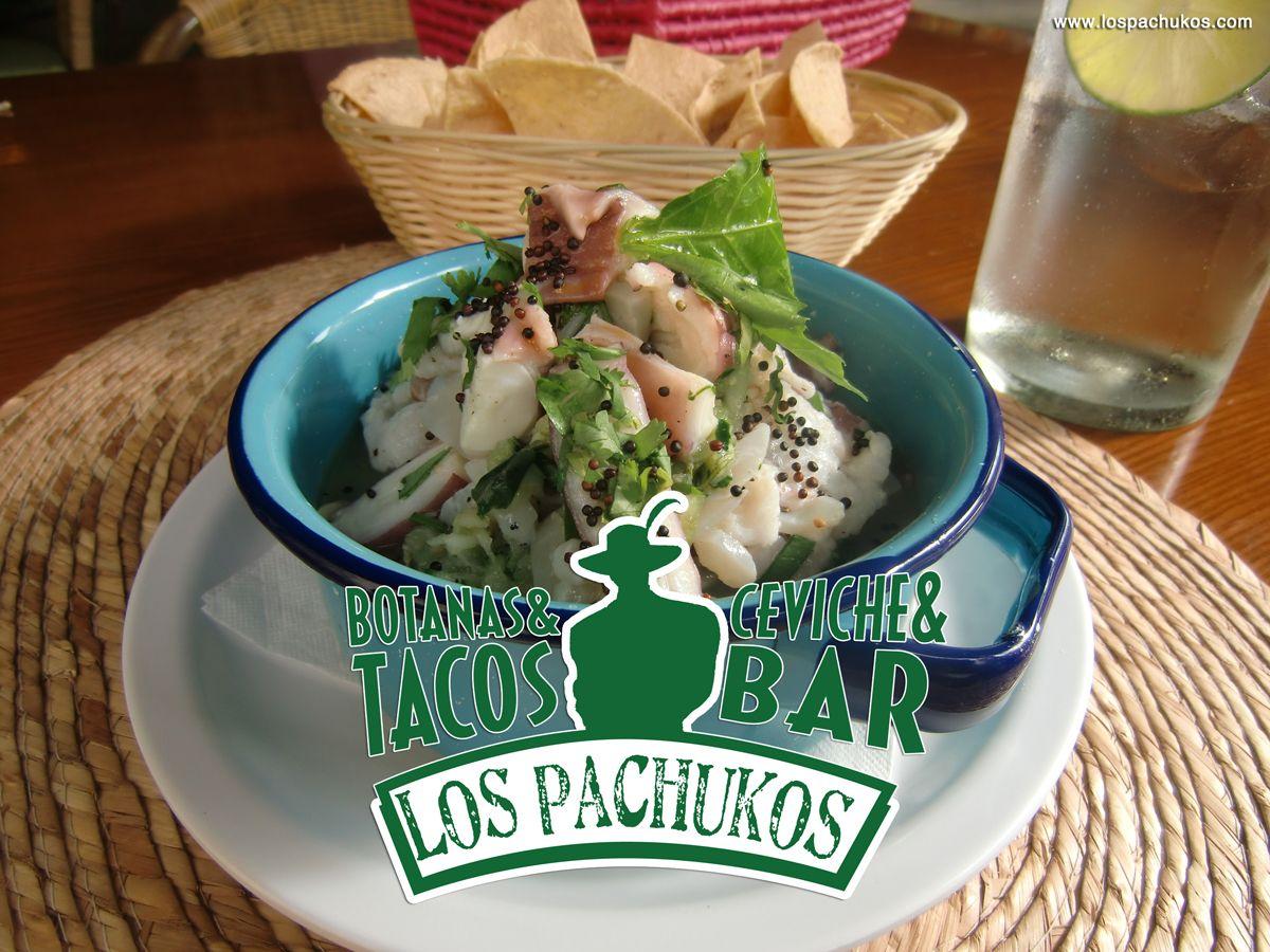 Un ceviche verde, en Los Pachukos , restaurante playa del carmen. Comida mexicana y de la otra. Calle 28 a unos pasos de la playa