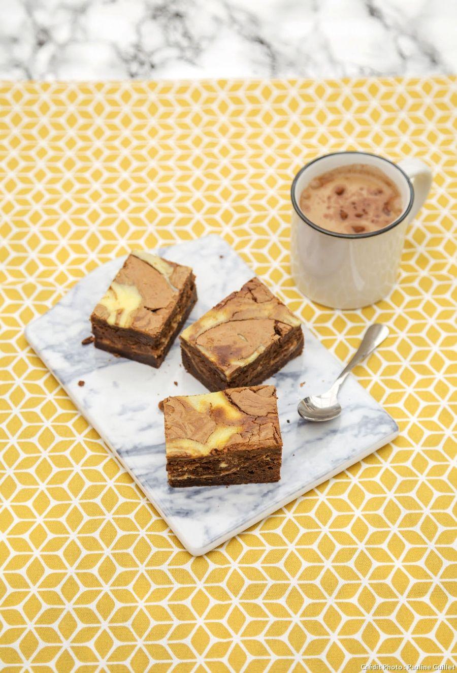 Brownie marbré comme un cheesecake | Recipe | Food, Food ...