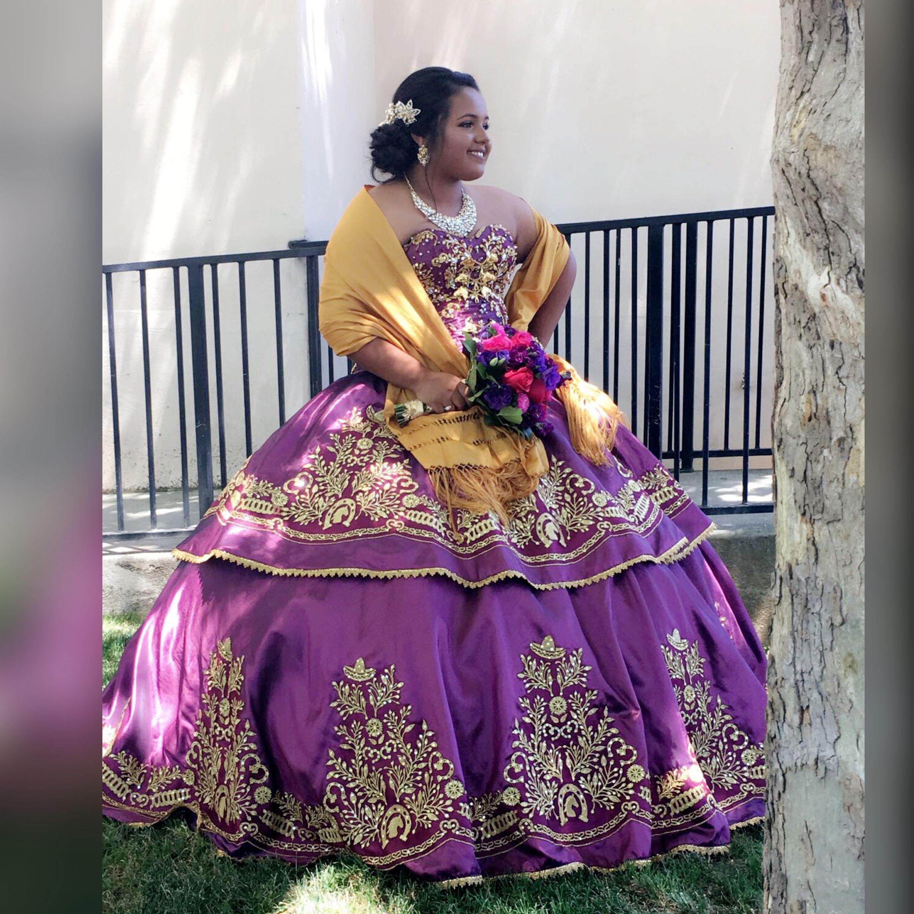 Quinceañera charra Vestido auntentico ragazza Vestido charro ...