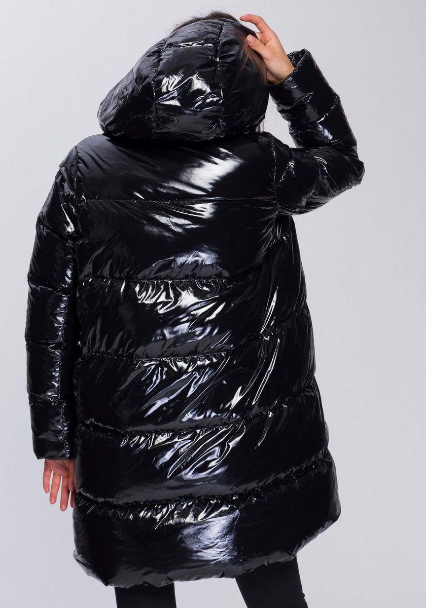 Tommy Hilfiger Mantel Ali High Gloss Down Coat Otto Puffer Jacket Women Shiny Jacket Hooded Winter Coat