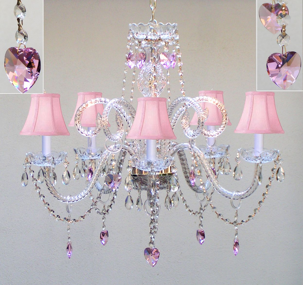 For a little girls room a46 sc3875pinkhearts chandeliers for a little girls room a46 sc3875pinkhearts chandeliers chandelier mozeypictures Images
