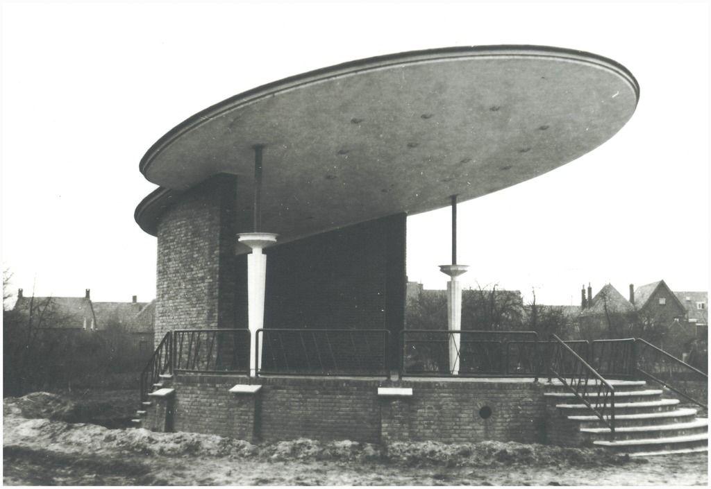 Muziekkiosk, Dopstraat Auteur: Foto Waarma - 1956