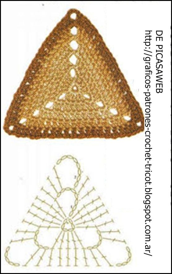 bolso triangulo crochet - Buscar con Google | Proyectos que intentar ...