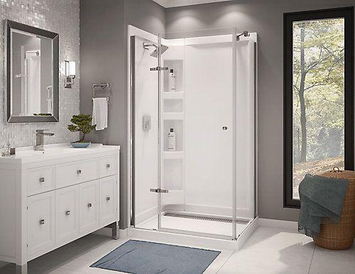 The Urbano Ii By Maax Is A Rectangular 42x34 Corner Shower Kit