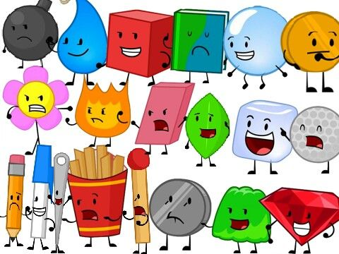 Some Characters From Bfdi And Bfdia Both Seasons So Awesome Island Party Pikachu Art Boy Decor