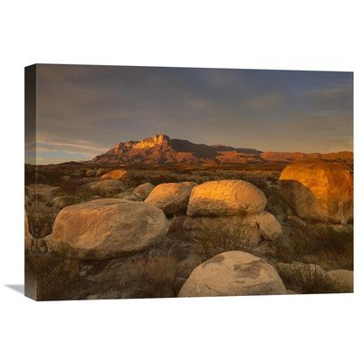 Global Gallery Nature Photographs El Capitan, Guadalupe Mountains National Park, Texas by Tim Fitzharris Photographic Print on Wrapped Canvas Size:...