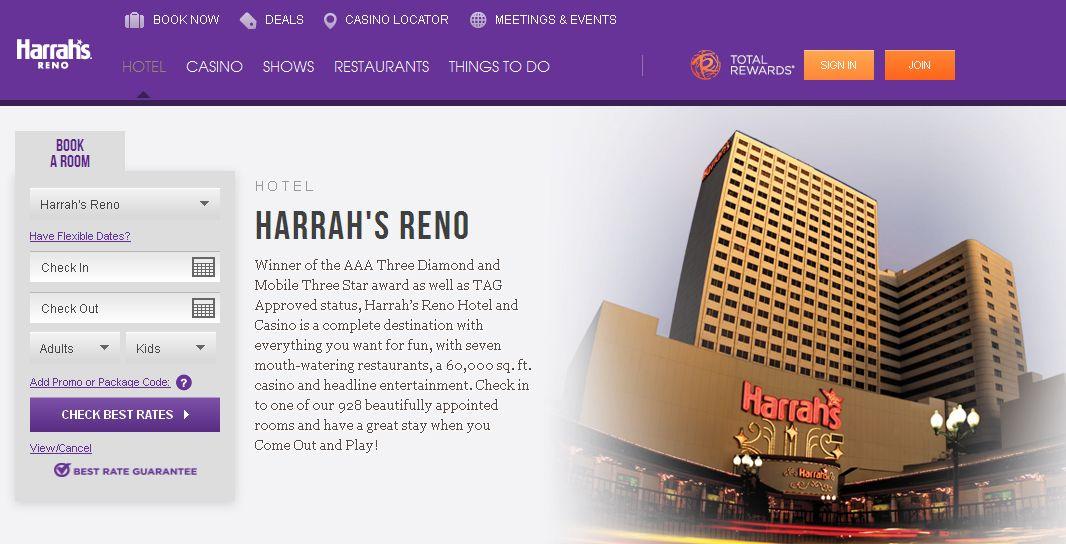Harrah S Hotel Downtown Reno Toll Free 800