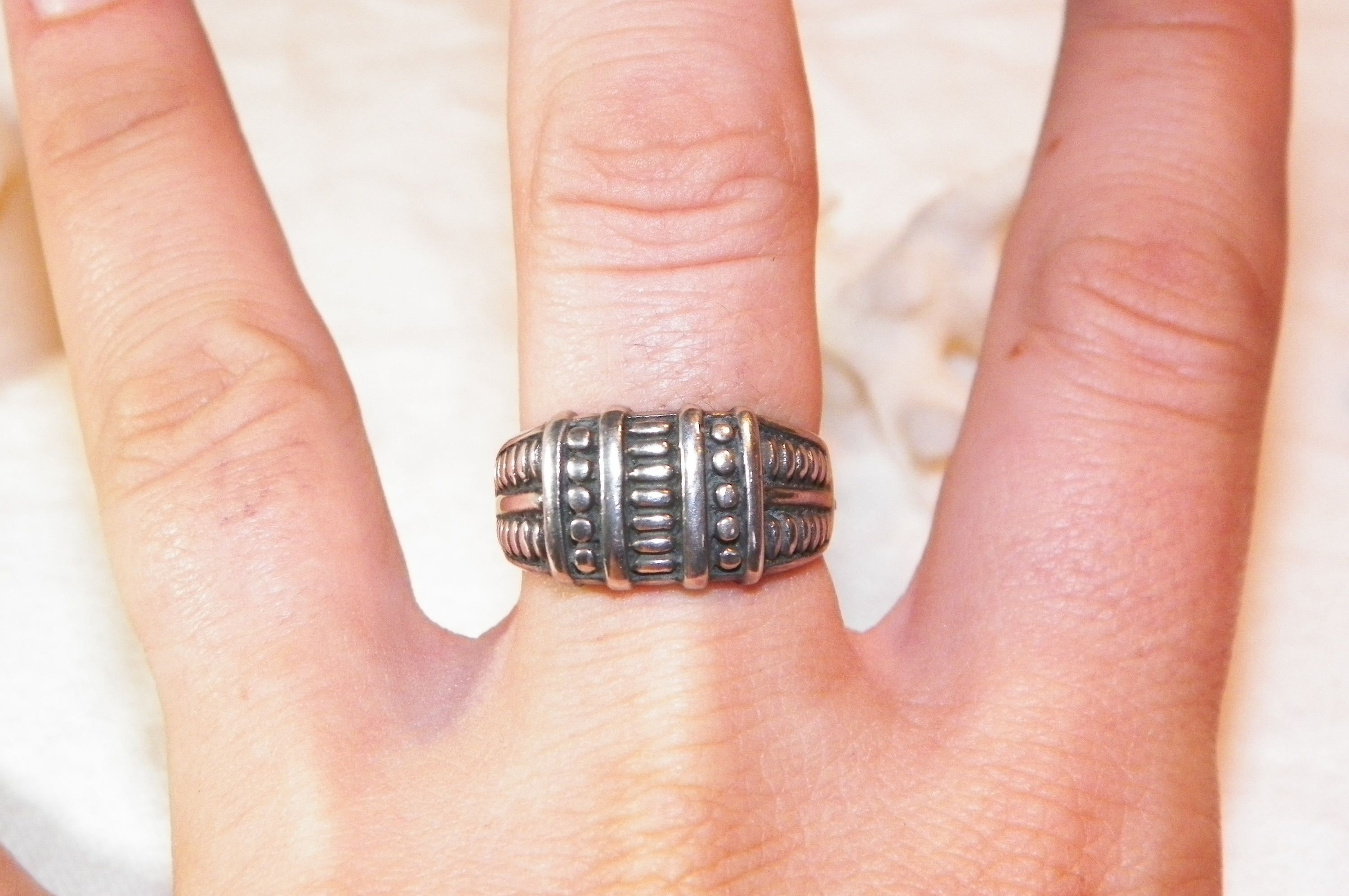 Size 7 Sterling Silver Hand Made Vintage Ring, 925 Unique Creative ...