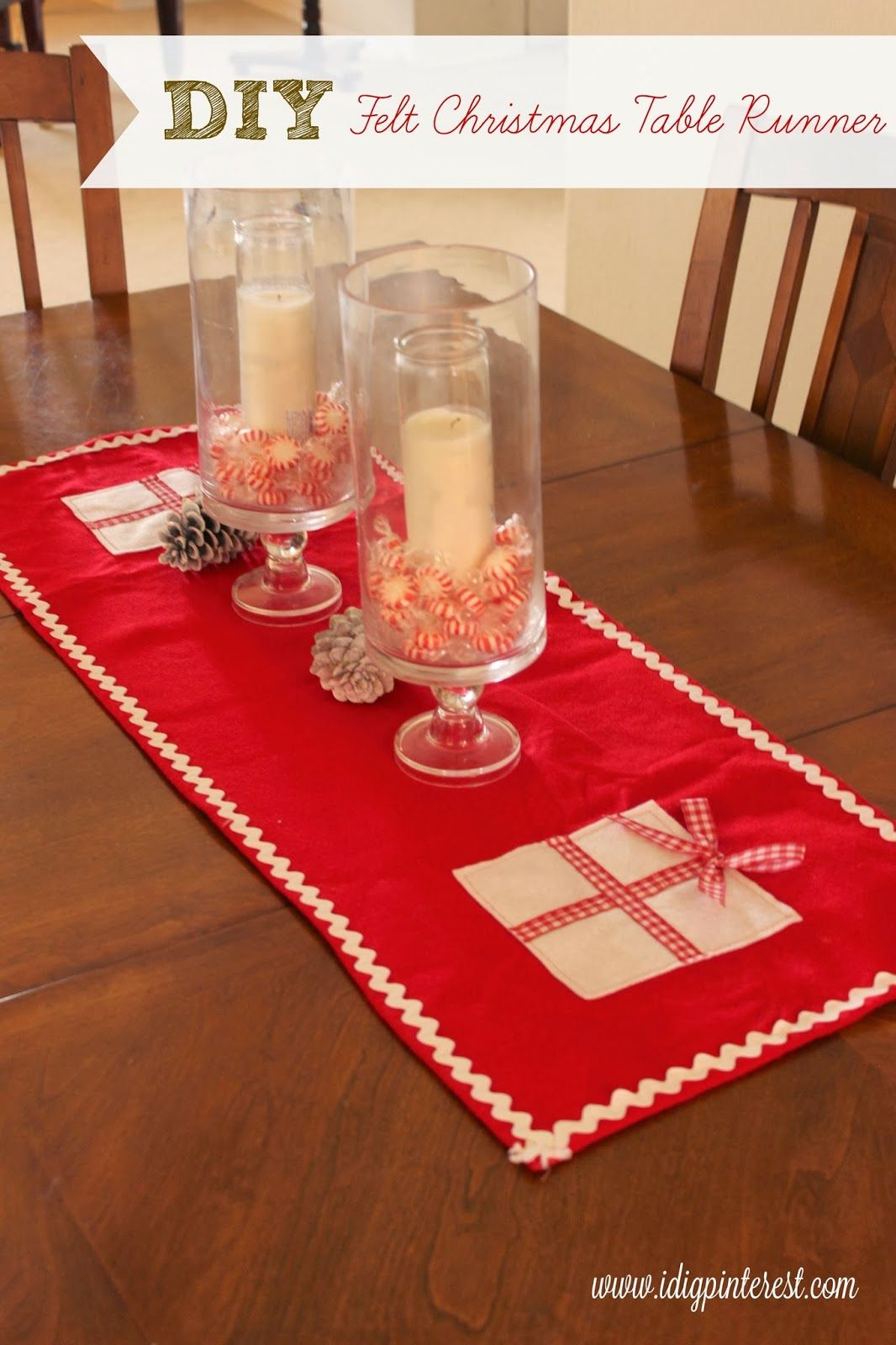 Christmas Table Runner Diy.Diy Felt Christmas Table Runner Christmas Felt Diy Felt